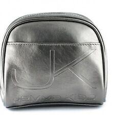 Jemma Kidd Silver Make-up Bag Cosmetic with Pink Pocket
