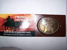 vintage marlboro longhorn beltbuckle in sealed package