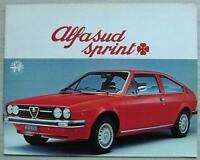 ALFA ROMEO ALFASUD SPRINT Car Sales Brochure 1977 GERMAN TEXT #772 L 454
