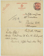 Belgium 1938 H&G #68 Postal Stationery Card Knokke to Germany - Garden North Sea