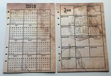 Filofax A5 Organiser 2018 Diary - Jan to Dec Weekly Calendar - Vintage Style