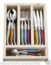 NEW LAGUIOLE JEAN NERON 24 PIECE CUTLERY SET STAINLESS STEEL KNIVES FORKS SPOONS