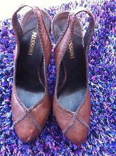 missoni ladies brown slingback shoes uk 4