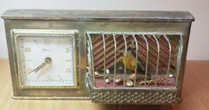 Circa 1950 German Singing Bird Cage Alarm Clock For Restoration or parts