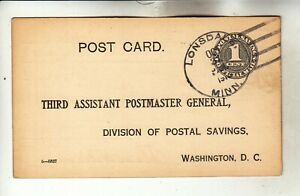 O1b Official Mail Lonsdale, Minn. Postal Card