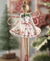 Gisela Graham Fairy Ballerina Nordic Scandi Resin Hanging Christmas Decoration