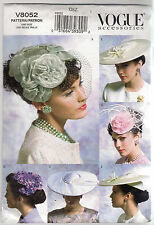 Vogue Sewing Pattern 8052, 5 Hats from Circa 1950, One Size,  Uncut
