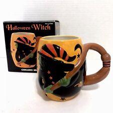 SUSAN WINGET Ceramic Halloween Witch Mug Certified International H22 fl oz NEW