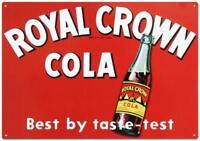 Royal Crown Cola Soda Vintage Retro Tin Metal Sign 13 x 17in