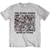 The Stone Roses T Shirt Made Of Stone Officially Licensed Mens Grey Tee. NEW