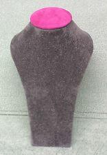 Medium Jewellery Display Upright Bust (Ash Grey/Fuchsia Pink)