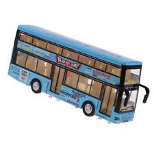 1/50 metallo DOPPELDECKER Sound & Light City Tour Bus Auto giocattoli per bambini
