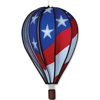 "Premier Kites Hot Air Balloon PATRIOTIC Wind Spinner (25778 - 22"" size)"