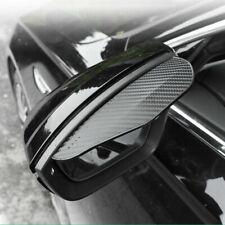 2pcs car side Carbon Fiber Black Mirror Rain Visor Guard For Fiat Models