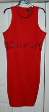 ❄️ New Sz 20 Limited AX Paris Curve RED Crystal Detailed Wiggle Dress party