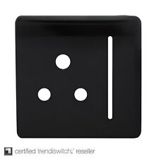 Trendi SPARE FACEPLATE For 1 Gang Artistic Modern Glossy 10 Amp Round Pin Socket