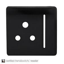 Trendi Repuesto placa frontal para 1 Gang Artístico Moderno Brillante 10 Amp Redondo Pin Socket