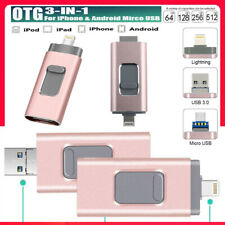 External Storage Devices For iPhone Micro Android USB PC OTG Memory Backup Stick