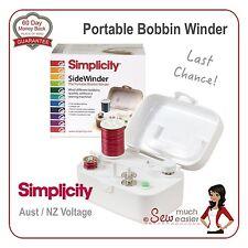 Simplicity SideWinder Portable Bobbin Winder Machine side winding bobbins spools