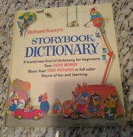 Richard Scarry's Storybook Dictionary Vintage HC 1975 A Golden Book Printing