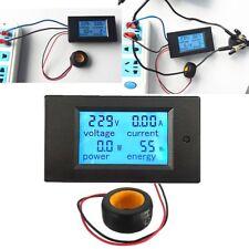 LCD AC 80-260V 0-100A Digital Voltage Volt Current Meter Panel Power Energy KG