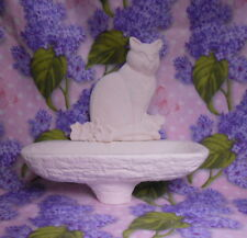 Cat Feeder for Birdseed Ceramic Bisque Ready To Paint
