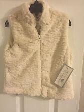 Kids Faux Fur Off White Vest by Widgeon