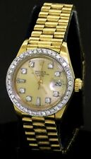Rolex President 6917 18K gold 1.04CT VS-SI diamond dial/bezel auto. ladies watch