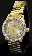 Rolex President 6917 18K gold 1.04CT VS-SI diamond dial/bezel auto. ladies watch