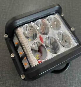 """4""""Inch LED Pods Work Light Bar White & Amber Strobe Lamp Combo For SUV TRUCK~HOT"""