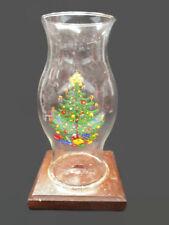 Coca-Cola Vintage Wood Based Hurricane Candle Lamp Christmas Holiday Decoration