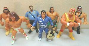 1990-91 Titan Sports Hasbro Wrestling Moveable Figures Lot of 7 WWF WWE