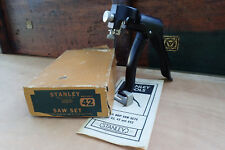 Stanley not Disston No 42X Saw Set RECONDITIONED with new SPRINGS! plus EXTRAS