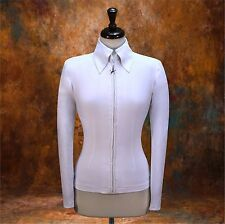 LARGE Showmanship Horsemanship Jacket Shirt Rodeo Rail Western AIR-BRUSH READY