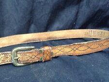 Vintage Levis Leather Belt Style 2401-3 USA Size 38