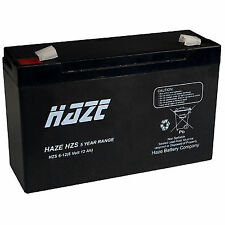 Haze 6v 12ah SLA Battery Hzs06-12