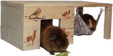 Nagerhaus Meerschweinchenhaus Hängemattengestell mit Haken & Hängematte