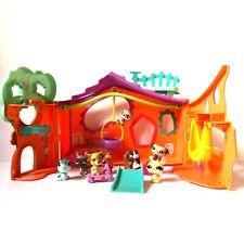 LPS Littlest Pet Shop Playset Tree House Orange Blue Treehouse Pets