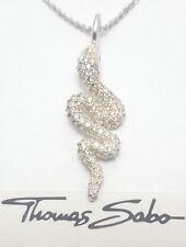 Thomas Sabo Kette mit Schlangen Anhänger KE1207-051-14, 925er Sterling Silber