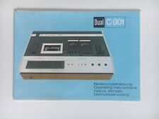 Original Bedienungsanleitung / User Manual: Dual C901