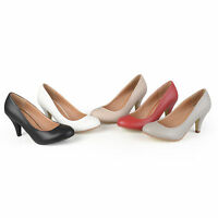 Journee Collection Womens Matte Finish Classic Pumps New