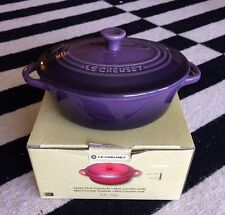 Authentic Le Creuset Mini Cocotte Oval Casserole Lidded Stoneware CASSIS - 12oz