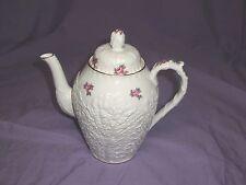 """Spode's Bridal Rose-Savoy Billingsley Rose LARGE COFFEE POT  """"Y2788"""" GOLD TRIM"""