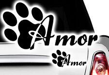 2x Aufkleber Pfote Pfoten Hunde WUNSCHNAME Sticker Auto FUNx Tatze Name paw dog