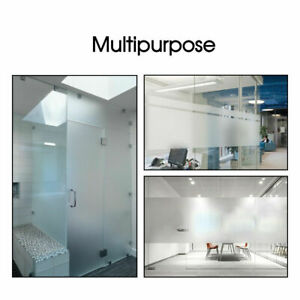 Window Guard Privacy Tint White Frosted Glass Films for Bathroom Home Office