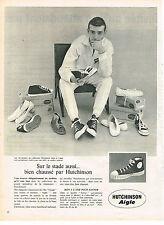 PUBLICITE ADVERTISING 084  1961  AIGLE HUTCHINSON  chaussures baskets SENIOR