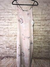 NWT Tildon Sz Small Nordstrom Spaghetti Strap Lovely Long Lavender Floral Dress