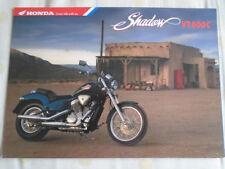 Honda Shadow VT 600C Motorcycle brochure Nov 1992 UK market