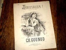 Jerusalem ! fragments de Gallia piano chant contralto ou basse 1880 Gounod