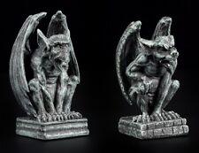 Mini Gargoyle Figuren - 2er Set - Gothic Dämonenwächter Drache Dekostatuen